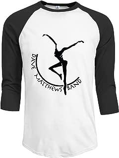LOVEHOLIC DMB Dave Matthews Band Men's Plain Raglan T Shirt