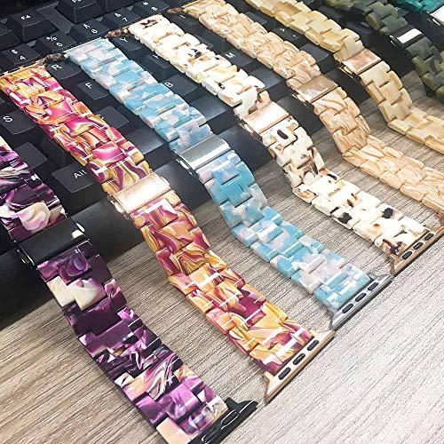 JWNCOAZS Nuovo Cinturino in Resina Colorata per Cinturino Apple Watch Series 5 4 3 2 1 Bracciale Iwatch 40/44/38 / 42mm Cinturino per Orologio Leggero per 42mm Stile A