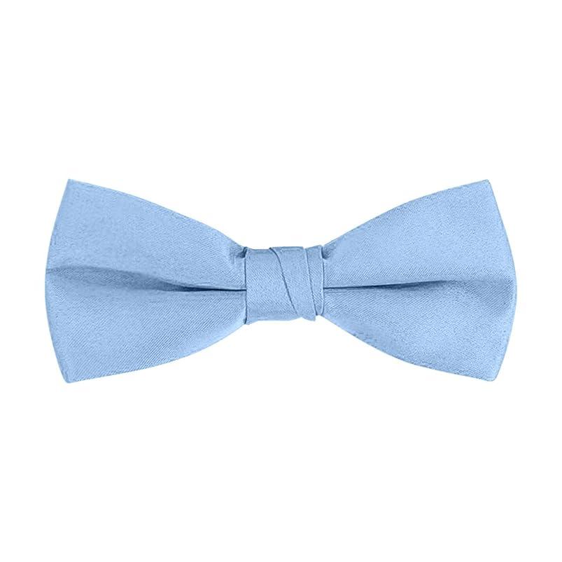 Men's Classic Pre-Tied Formal Tuxedo Bow Tie - S.H Churchill (Light Blue) gfxrnfvu568088