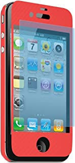 """Apple iPhone 4 / 4S Universal CARBN""""The Works"""" Screen Protector, Red"""