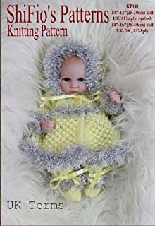 Knitting Pattern - KP141 - preemie or doll matinee jacket, hat and trousers fit 10