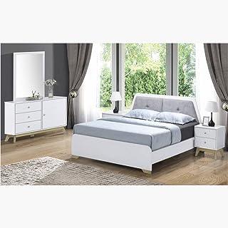 Homebox Sweden 5-Piece King Bedroom Set, White - 180x200 cms