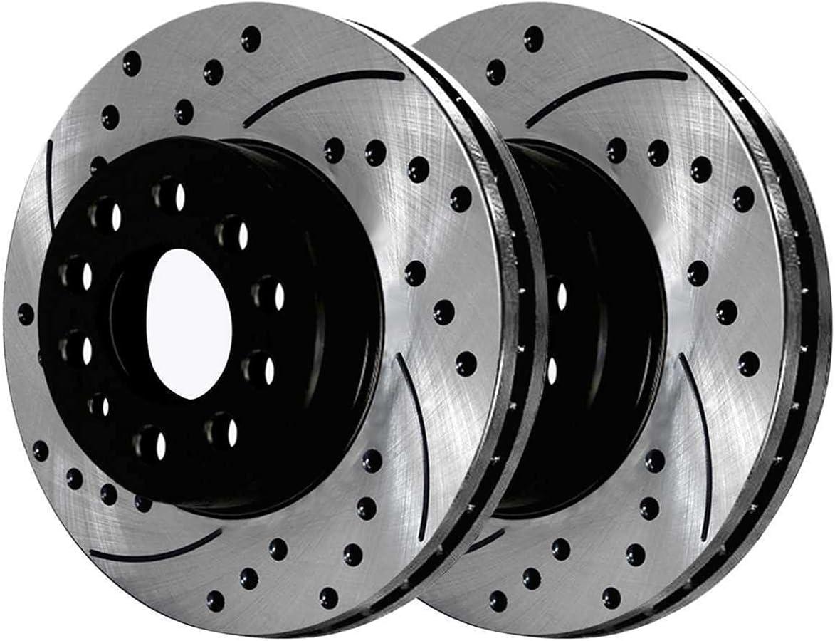 Elegant Front Disc Mail order cheap Brake Rotors Performance Pads Kit Compatibl Ceramic