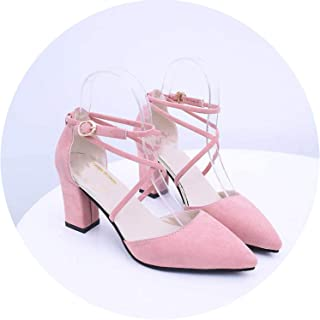 HANBINGPO HOT Summer Sandalias Femeninas High Heels Flock Pointed Sandals Sexy Female Summer Shoes Mujer Zapatos Mujer Pumps 2019,007 Pink,37