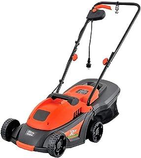 TSTYS Herramienta de jardín eléctrico Push-Tipo segadora rotativa 1200W, 2900R / min sin Carga de Velocidad / 5 Regulable en Altura/Cesta de Paja de Gran Capacidad (Color : Orange)