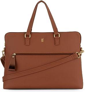 Baggit Autumn/Winter 2020 Faux Leather Women's Satchel Handbag (Tan) (Many)