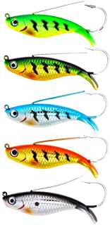DOITPE Fishing Lures Weedless Minnow Spoon Rattling Hard Baits with BKK Hooks in Saltwater and Freshwater Lures for Bass Trout EEL Walleye Pike Musky