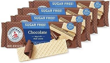 Voortman, Sugar Free, Chocolate Wafers, 9oz Bag (Pack of 4)