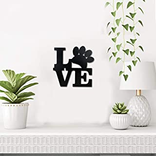Sehaz Artworks Love Wall Decor Dog Lover Plaque Sign - Black Wooden Plaque Wall Hangings Home Room & Wall Decor Wall Art