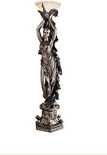 6ft Classic French Art Deco Decorative Peacock Lady Statue Art Nouveau Floor Lamp