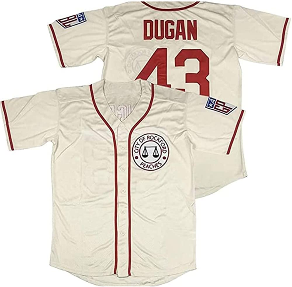 #43 Jimmy Dugan City of Rockford 2021new shipping OFFicial mail order free Their Peaches M Own A League