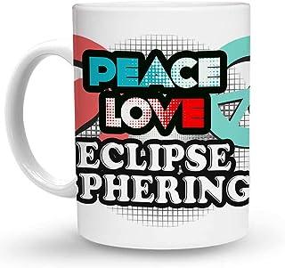 Makoroni - PEACE LOVE ECLIPSE SPHERING 6 oz Ceramic Espresso Shot Mug/Cup Design#12