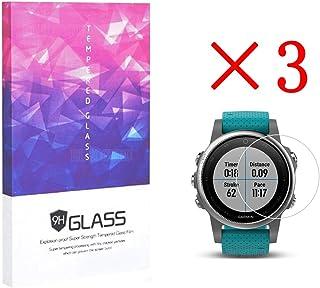 Addprime Garmin Fenix 5S Tempered Glass Screen Protector, Anti-Bump Scratch Resistant HD Screen Protector 0.3mm Slim 3 Pack for Garmin Fenix 5S