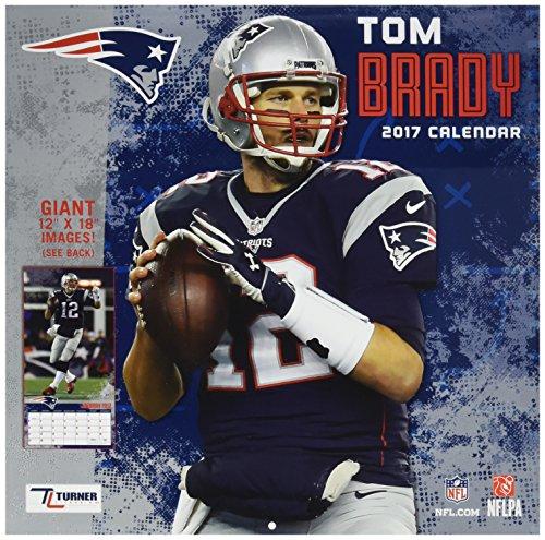 "Turner Licensing Sport 2017 New England Patriots Tom Brady Player Wall Calendar, 12""X12"" (17998011784)"