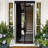 Nvetls Mosquitera Puerta Magnética Puertas con Mosquitera para Muchas Puertas con Tira Adhesiva, Sin Perforacion (80 * 200cm, Negro)