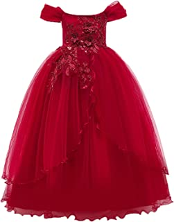 Surprise S Champagne Color Kids Dresses Princess Wedding Gown Summer Girl Dress Long Tulle Teen Party Children Clothing