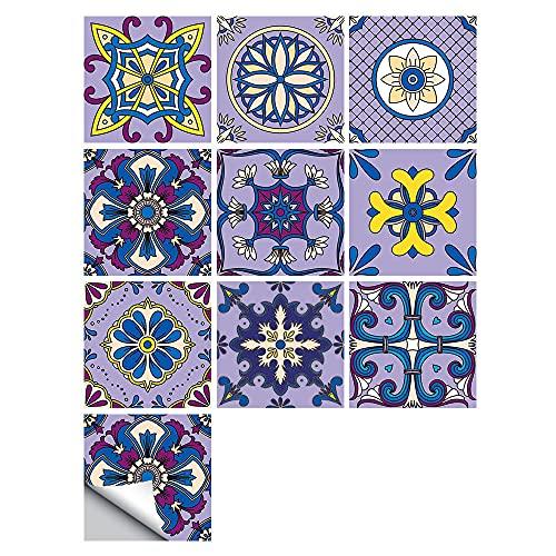 Pegatinas para azulejos con patrón del Vaticano, impermeables, autoadhesivas, para decoración de muebles de cocina, baño, 20 cm x 20 cm x 10 unidades