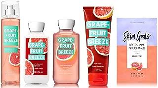 Bath and Body Works Grapefruit Breeze Fragrance Set - Lotion, Shower Gel, Fragrance Mist, Body Cream with Grapefruit Face Mask