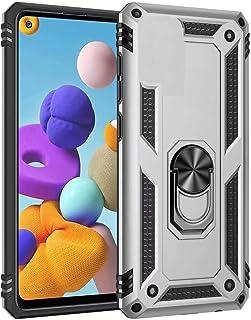 جراب Minwu لهاتف Samsung Galaxy A10s، مع مسند حلقي واقٍ كامل للجسم مصنوع من جل TPU والسيليكون مخصص ومقاوم للصدمات لهاتف Sa...