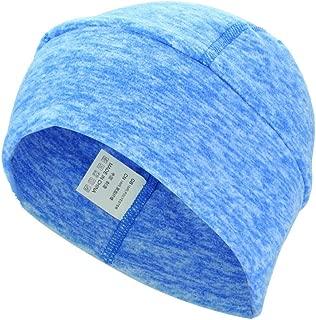 Tbest Skull Cap Anti-Sweat Helmet Liner Cap Fast Drying Headwear Cap Beanie Winter Warm Head Cover for Outdoor Cycling Runing Women Men 3 Colors