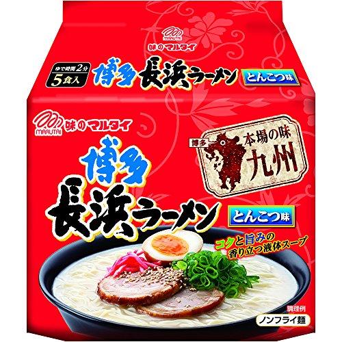 マルタイ 本場の味九州博多長浜ラーメン (100g×5食) 500g