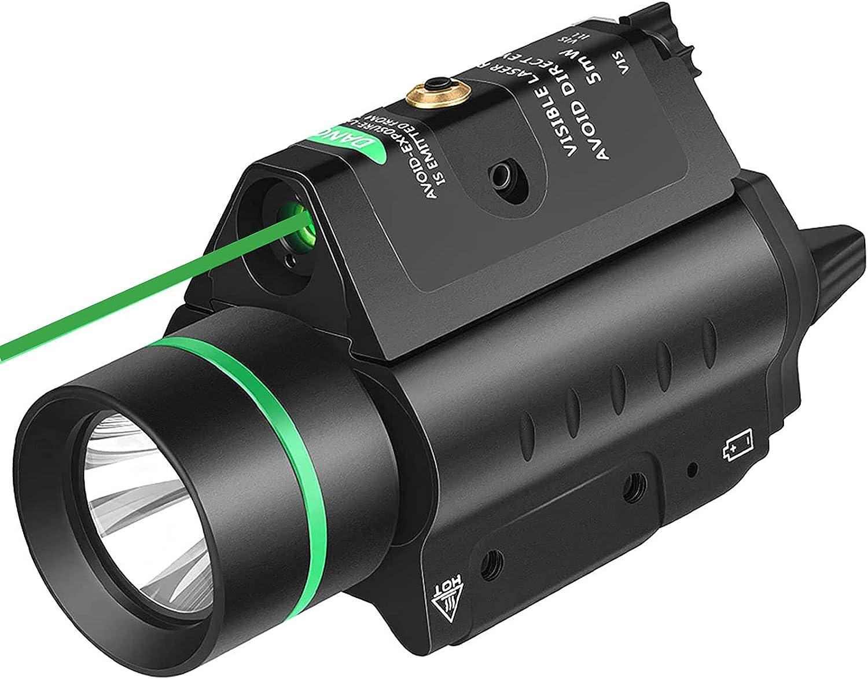 EZshoot 20mm Pistol Laser Light Combo, 200 Lumen Laser Handgun Light