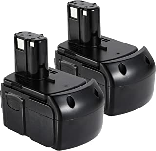 Masione 2Pack 18-volt 4.0Ah High Capacity Battery for Power Tools 326241 EBM1830 BCL1815 Power Tool Lithium-Ion 4000mAh HXP Battery Pack Black