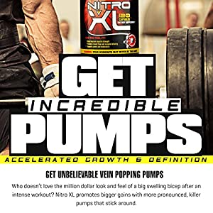Nitro XL | Nitric Oxide Bodybuilding Supplement – with L-Arginine | Build Muscle Mass – Get Ripped – Boost Performance – Increase Endurance & Stamina – Intensify Your Workout | 120 caps