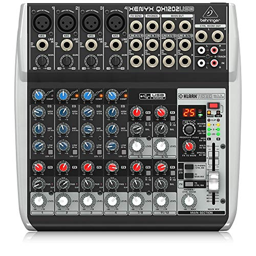 BEHRINGER, QX1202USB Premium 12-Input 2-Bus Mixer with Xenyx Mic Preamps & Compressors British EQs Black. Buy it now for 289.99