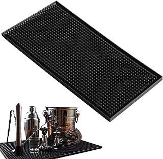 grand noir Fditt Tapis de bar carr/é en PVC /épais en caoutchouc antid/érapant Tapis de bar pour cocktail tasse de cuisine /étanche tasse /à th/é