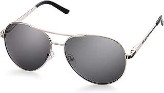 LotFancy Sunglasses for Women, Aviator Sunglasses, UV400 Protection Lens, 61MM, Metal Frame, Ultra Lightweight