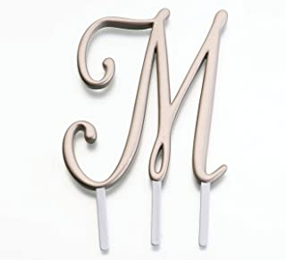 monogram cake toppers gold