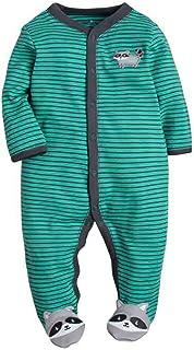 Pijamas para bebé Mamelucos Niña Niño Mono de Algodón Ideales para Dormir y Jugar Una Pieza 3~12 Meses