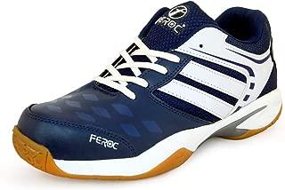 Feroc xega Blue White Shoe Badminton Shoe