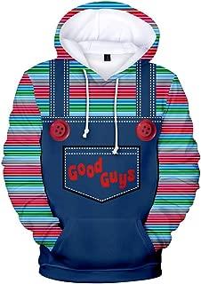 Xiao Maomi Horror Doll Cosplay Hoodie Jacket Coat Costume 3D Print Zipper Pullover Sweatshirt for Adult Halloween Outfit