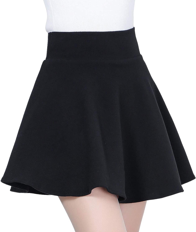DISSA BD1501 Women Pleated Mini A-Line Skirt