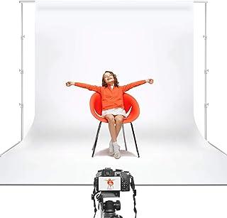 Julius Studio 10 x 20 ft. White Chromakey Photo Video Studio Fabric Backdrop, Background Screen, Pure White Muslin, Photog...