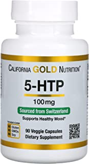 California Gold Nutrition, 5-HTP, Mood Support, Griffonia Simplicifolia Extract from Switzerland, 100 mg, 90 Veggie Capsules