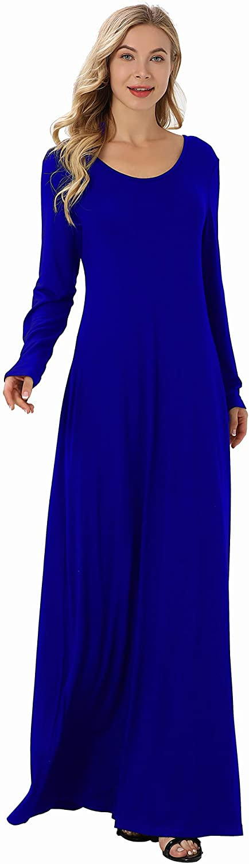 LONGLING Superlatite Ladies Round Ranking TOP6 Neck Long Medium-Len Casual Sleeve Fashion