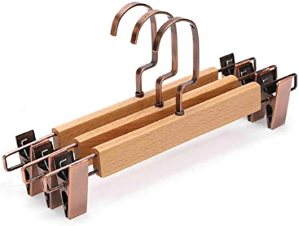 CKH Multifunctional Telescopic Pants Rack Pants Clip Solid Wood Large Hangers Hangers Home Wooden Non-Slip Clothing Support