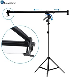 LimoStudio 26-48 inch Swivel Head Reflector Arm Support Holder with Photo Light Stand Tripod, Easy Spring Clip Install, Mount on The Light Stand Tripod, Photo Studio, AGG2057V2