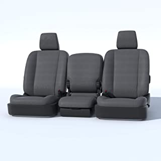 Durafit Seat Covers D1334-C8-FBA, Seat Covers Made in Gray Waterproof Endura for 2013-2018 Dodge Ram Front 40/20/40 Split Bench with Opening Center Console. 20 Section seat Bottom Does NOT Open.