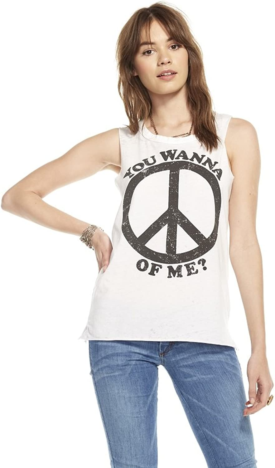 Chaser Women's Peace of Me Relaxed Graphic Tee