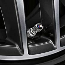 BMW Genuine M Logo Wheel Tire Valve Stem Cap Set