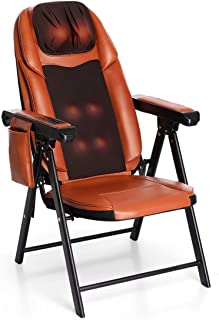 Folding Shiatsu Massage Chair with Heat – Back Neck and Shoulder Massager –..