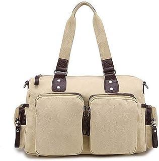Shoulder Bag Women's Shoulder Bags Travel Casual Zippers Fabric Crossbody Bags Handbag Clutch (Color : Beige, Size : One Size)