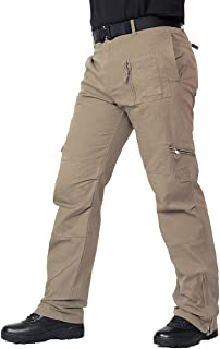 ReFire Gear Men's Military Cargo Work Pants Multi Pockets Cotton Airborne Army Tactical Trousers