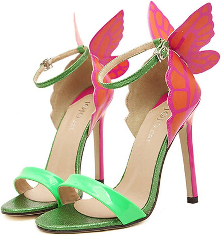 San hojas JC Sandals Butterfly Summer Heels Yellow