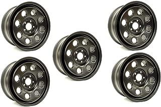 Proper Spec Land Rover D3/D4/RRS TERRAFIRMA 18X8 Steel Wheel Set of 5 Satin Black with Nuts
