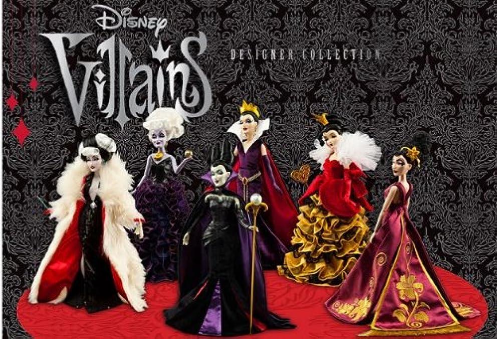 Disney Villains Designer Collection Doll Set of 6: Maleficent, Queen of Hearts, Mother Gothel, Ursula, Cruella De Vil, Evil Queen